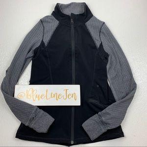 Ivivva by Lululemon Herringbone Black Jacket